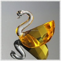 Fancy Animal Gold Crystal Swan For Wedding Door Gift