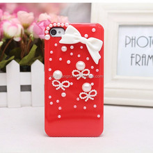 Factory supply girls jewelry bowknot 3D phone case for various phones