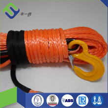 12000lb uhmwpe fiber synthetic winch rope with a hook and sleeve