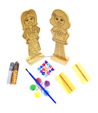 DIY Wooden toys wooden stand dolls