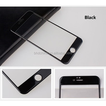 2015 newest colorfull 9H 3D curved edge full cover tempered glass screen protector for iphone 6 and for iphone 6 plus
