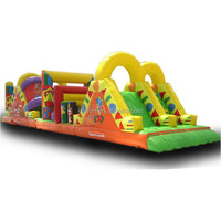 0.55mm pvc inflatable obstacle course, adults inflatable tunnel game, interaceive inflatable