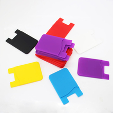 silicon card holder, mobile phone case card holder wallet/ cell phone pocket
