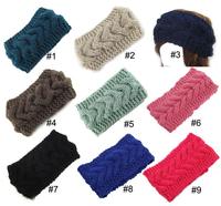 Women Hair Accessories crochet handmade Hair twist warm wool knit Wide headband