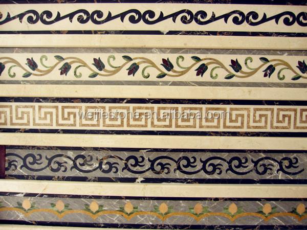 Wall And Floor Stone Waterjet Tile Border Design - Buy Waterjet Tile ...