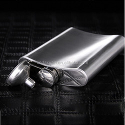 The Original Shot Flask - 8oz Modern Hip Flask With A LOGO printing Stainless Steel