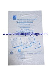 Plastic bag for machine covering