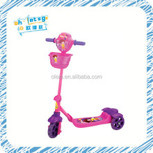 Factory cheap price 3 wheel electric scooter children footed scooter with music