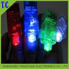 2014 Christmas gift fashion flashing finger light silicone rubber finger ring