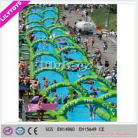 2015 crazy and popular custom giant inflatable water slip and slide for adult