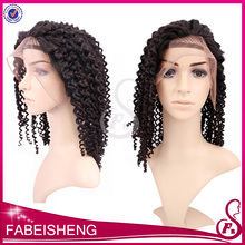 wholesale Best price 100% virgin hair brazilian curly full lace wig