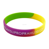 segment colors silicone bracelets,High quality wristbands,Printed silicone wristbands