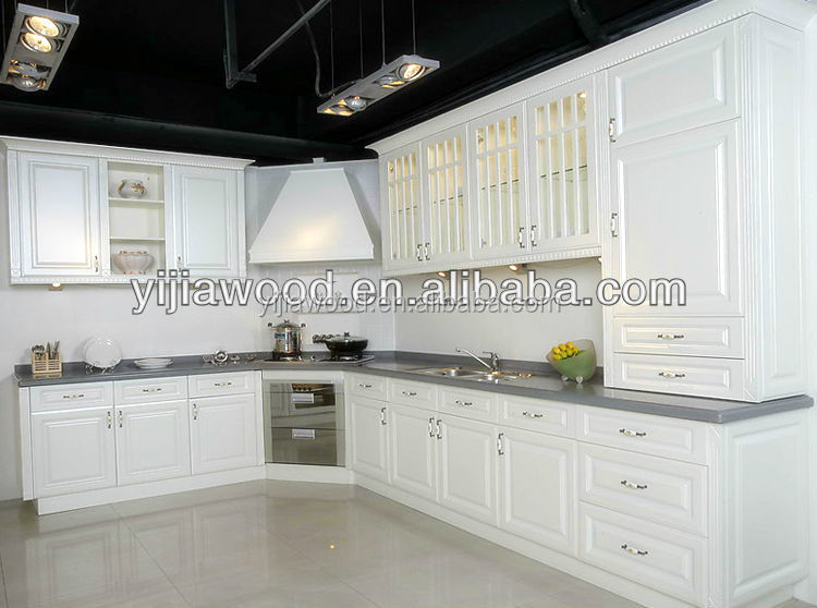 White Kitchen Cabinets Mdf Vs Wood   White Oak Wood Grain Melamined  Chipboardpvc Thermofoil