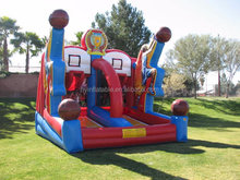 2015 hot sale inflatable basketball shooting, inflatable basketball goal