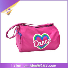 Good looking logo printing custom dance duffle bags