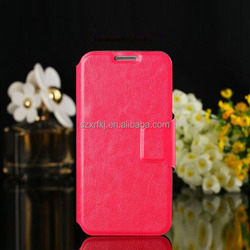 mobile phone color print stand wallet leather case for samsung galaxy s4