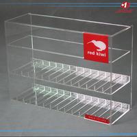 Clear acrylic plexiglass lucite cigarette e-liquid juice display stnad cabinet
