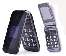 Large dual screen large button senior flip phone, camera senior mobile phone