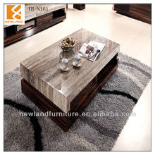 Newland classical wood marble top coffee tableTB-N161