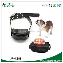 Super Cheap Shenzhen Manufacturer Beautiful Pet Product bark stop dog training collar JF-X888