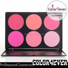 Branded 6 colors makeup palette mineral blush palette kids blusher