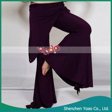 de estilo tribal de danza del vientre pantalones harén de color púrpura