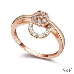 Newest Fashion champagne gold plated dubai Ring