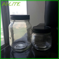 250ml 500ml glass food storage jars with metal lid