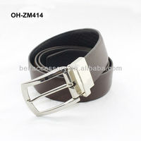 Men genuine leather Italy clip belt with buckle