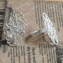 25MM Teardrop Ring Blank, Ring Setting, Cabochon Ring, Adjustable Rings, Metal Ring Blanks