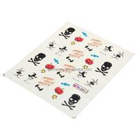 Fashion Halloween Nail Art Water Decals Hallowmas Stickers Pumpkin Spider Ghosts Pattern Wraps Decoration Tools