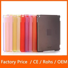 2015 New Products Smart Cover Partner +Clear PC Hard Back Ultra-thin Matte Case for iPad Mini 123