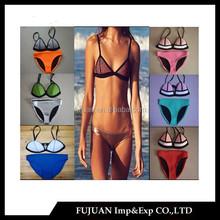 Wholesale fashion usa mesh sexy girls neoprene bikini