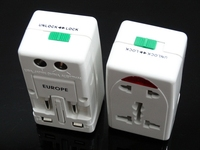 HD-931L-1 bottom price best selling travel adapter with current