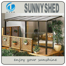 2015 Polycarbonate sheet and aluminum frame terrace awning