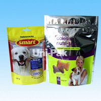 BPA free Custom Printed Reseable stand up Dog Treats Food bags with zippper / Pet Snacks packaging bagswith zipper
