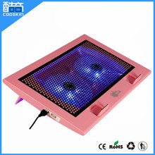 Wholesale factory price laptop cooling gel pad with double fans