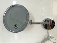 Chrome finish/5x magnification/ wall mounted makeup mirror light