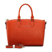 S484-A2397 orange ostrich cow leather hot selling fiedle brand design leather handbags
