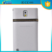 Best design high quality leather wallet zipper case for Samsung galaxy note 3