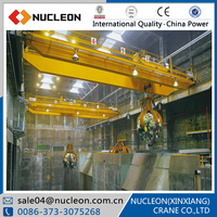 Nucleon 80ton Double Beam Overhead Crane With Grab Bucket Sale Hot