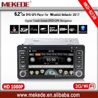 Two Din 6.2 Inch Car DVD Player For MITSUBISHI OUTLANDER LANCER ASX 2013 With 3G Host GPS Navigation BT IPOD TV Radio