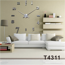 New Arrival Combination Of Square 3D Wall Stickers DIY Mirror Wall Clock Home Decor