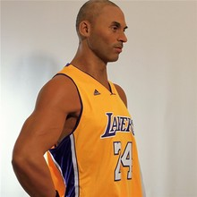 popular high simulated basketball player Kobe silicone wax figure