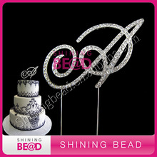 monogram rhinestone cake topper wedding items