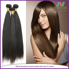 2015 Popular Fast Shipping 100% Human Hair Different Colors European Hair Weft Silky Straight