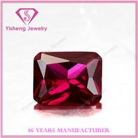 Octagonal Sharp Bottom Faceted Madagascar Ruby Fashion Jewelry