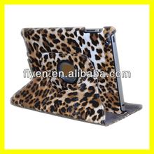 leopard pattern desgin 360 degree rotating case for ipad 4 ipad 3 ipad 2 leather material smart cover with magnetic