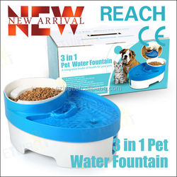 New arrival Pet dog product 3 in 1 Pet Water Fountain dog feeder PF01
