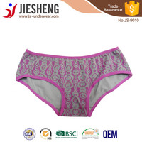 Print underwear plus size panty for woman JS9010